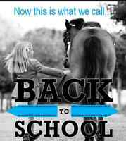 RIDING LESSONS - BACK TO SCHOOL SPECIAL!!