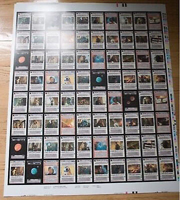 Star Wars CCG Jabba's Palace UNCUT SHEETS x2 SET