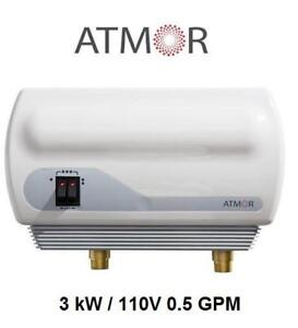 NEW ATMOR INSTANT WATER HEATER AT-900-03 164775800 3 kW / 110V 0.5 GPM