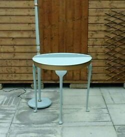 Standard lamp and half moon table