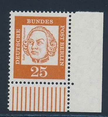 Berlin Nr. 205 postfrisch / **, Eckrand Ecke 4  (39611)