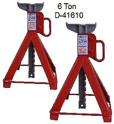 6 Ton Garage Stands D41610 100% Made in USA by U.S.
