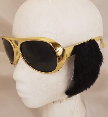 Rock n Roll Fancy Dress Glasses & Sideburns - Elvis Rock N Roll Brille