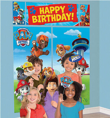 PAW PATROL birthday party wall/door Scene Setter & photo booth kit dog - Photo Booth Kit