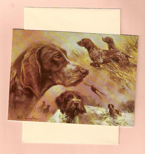 Wire Haired Shorthaired German Pointer Note Card Mick Cawston Pack 5 (d)