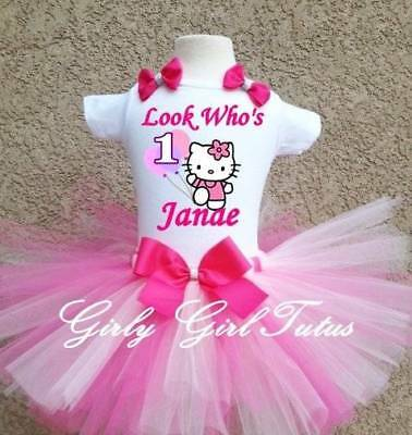 loon 1st Birthday Tutu Outfit Party Dress Set (Hello Kitty Tutu-outfit)