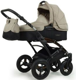 Pram carrycot car Seat 2in1 with accessories