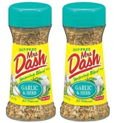 Mrs Dash Garlic & Herb Salt-Free Seasoning Blend 2 Bottle Pack Herb Salt Free Seasoning