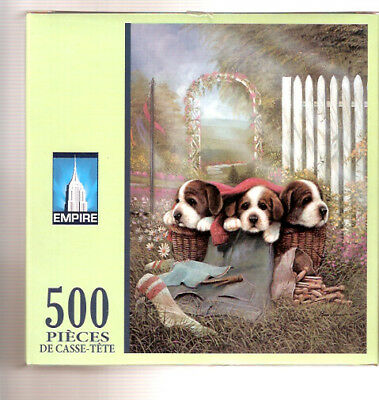 Beagle Hound Puppies Laundry Basket Puzzle 500 pieces LAST ONE!