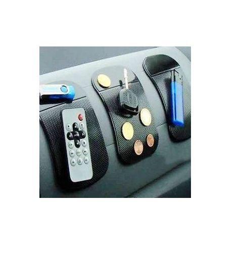 NEW 3 piece Car Magic Grip Sticky Pad Anti Non Slip Mat Dash Cell Phone Holder