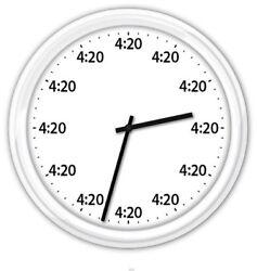 420 4/20 Wall Clock - Marijuana Weed Pot Smoking Funny Novelty GREAT GIFT