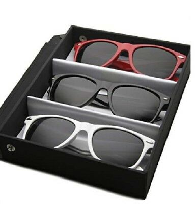Classic Eyewear 80's Retro Large Horn Rimmed Style Sunglasses (Deluxe 3-Pack (Zerouv Eyewear)