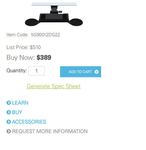 Humanscale keyboard platform 5G90012DG22
