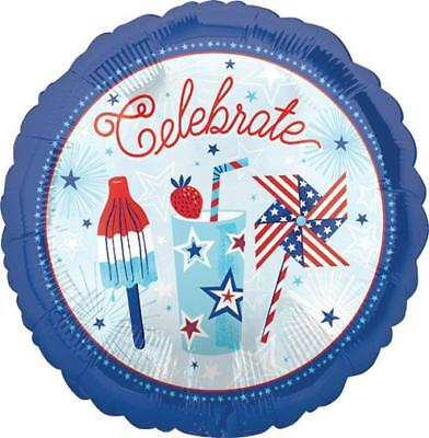 Set OF 2 Celebrate USA Red White Blue Balloons 17