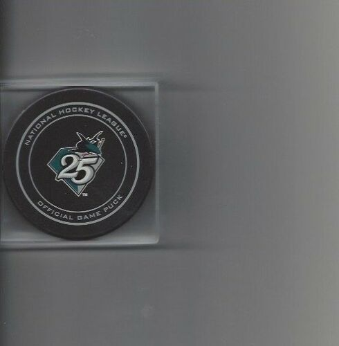 San Jose Sharks 25th Anniversary Official Game Puck Free Shipping
