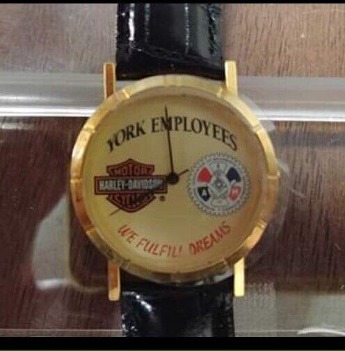 Vintage Harley Davidson York Employees Watch NIB