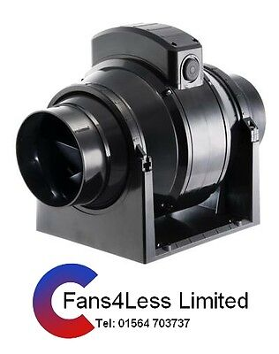 Manrose In Line Extractor Fan (grow Rooms,tents, Hydroponics) 4 Dia 245m3/hour