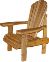 Gift for father's day - High cedar outdoor chair- FREE SHIPPING