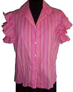 Pink Striped Blouse - NEW - Size 14 Gatineau Ottawa / Gatineau Area image 1