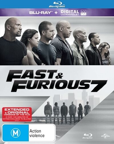 FAST and FURIOUS 7 : NEW Blu-Ray