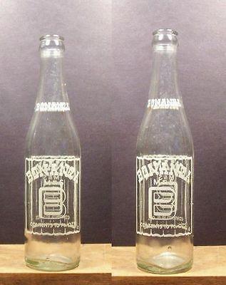 Bonanza M & S B  Old Vintage ACL 10 oz ounce Soda Pop Bottle 406