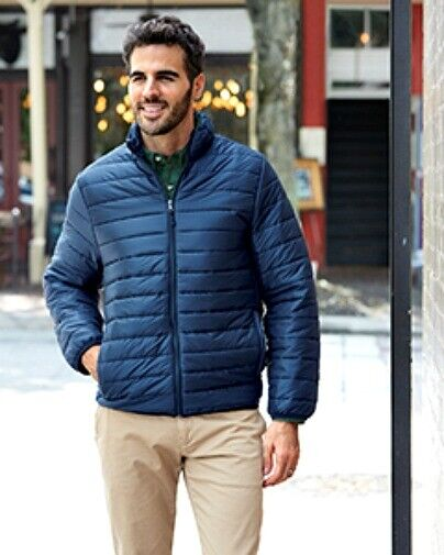 UltraClub Adult Quilted Puffy Jacket Navy coat Clothing, Shoes & Accessories