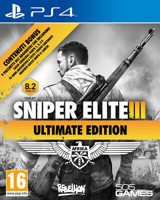 Sniper Elite 3 Ultimate Edition PS4 Playstation 4 IT IMPORT 505 GAMES ()