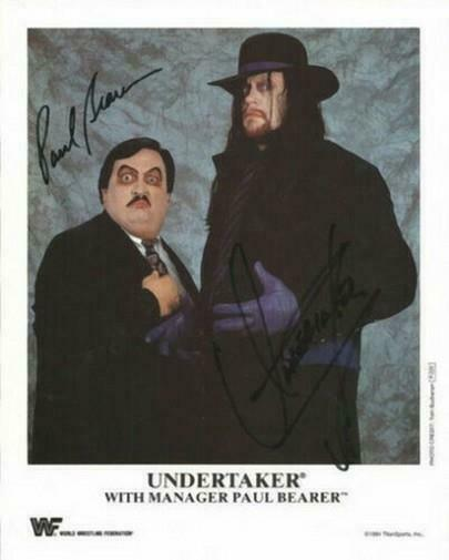 THE UNDERTAKER & PAUL BEARER SIGNED PHOTO 8X10 RP AUTOGRAPHED WWE WRESTLING