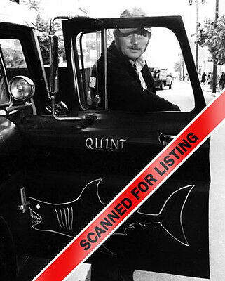 Jaws Robert Shaw As Quint With His Shark Truck 8X10 Photo  7736