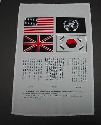 KOREAN WAR ERA BLOOD CHIT 10 X 13 SILK LIKE USAF US NAVY ARMY USMC Patch Image