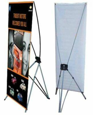 Full Color Custom Print Banner Kit With X-banner Stand 24 X 63