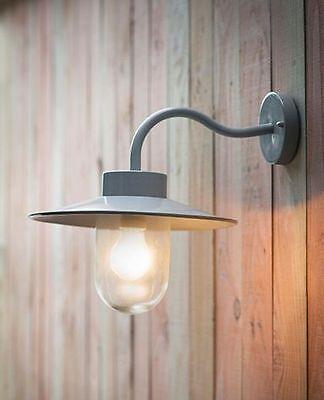 Garden Trading St Ives Swan Neck Outdoor Wall Light Lamp Flint