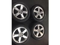 """GENUINE 19"""" AUDI ALLOYS AND TYRES++BARGAIN++"""