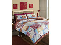 2 x oriental design single bed duvet cover and pillowcase sets, brand new