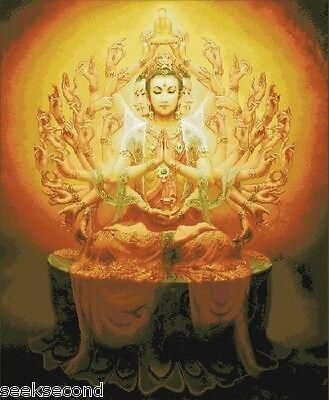 11ct Stamped Cross Stitch kit Avalokitesvara Buddha Needlewo