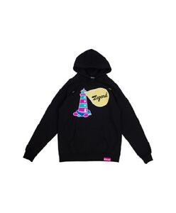 Pink Dolphin Lighthouse Legend Black Pullover Hoodie Hooded Sweatshirt Small NWT