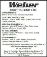 NOW Hiring OPERATORS & LABOURERS