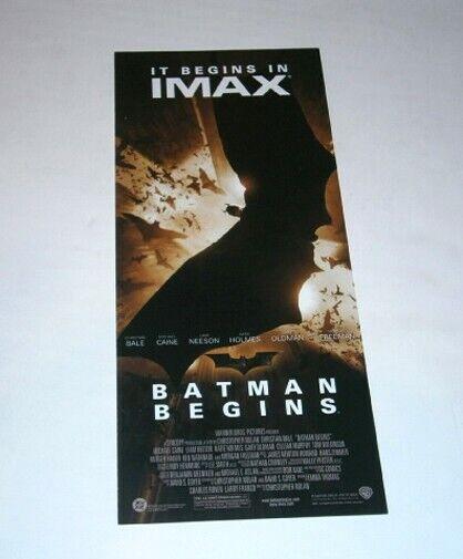 BATMAN BEGINS IMAX Promo Postercard 2005 Christopher Nolan Christian Bale