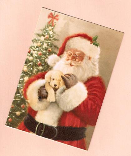 Golden Retriever Puppy Santa Claus Christmas Cards American Greetings Box of 14*