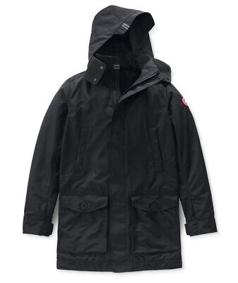 - Canada Goose Crew Trench Droptail Spring Men's Jacket Parka XL Black NWT