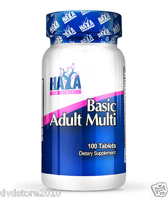 VITAMINA HAYA Labs BASIC ADULT Multivitaminico specifico A C E D B6 B12 100 Tabs