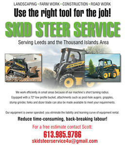 Skid Steer/Bobcat Service - Mini X - Septic Systems