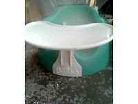 Bumbo seat with straps and tray