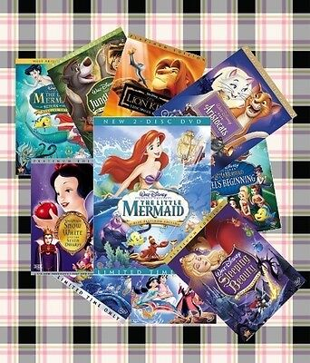 Disney DVD lot of 6 Classic and New Disney Children's Movies on Rummage