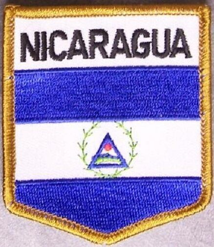 Embroidered International Patch National Flag of Nicaragua NEW bunting