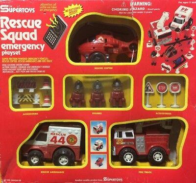 Vintage SuperToys Rescue Squad Emergency Playset