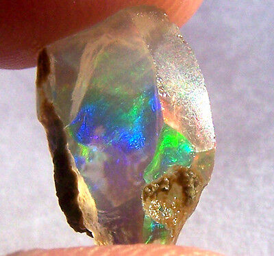 ETHIOPIAN OPAL Specimen ROUGH 100% NATURAL AMAZING PLAY OF COLOR GEMSTONE