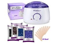 Wax heater hair removal