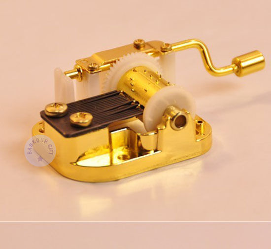 """Play /""""Howl/'s Moving Castle/"""" Silver Sankyo Musical Movement for DIY Music Box"""