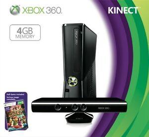 console xbox + kinect et 6 jeux